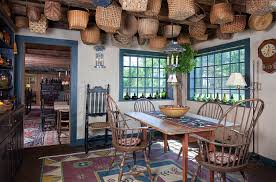 View In Gallery A World Of Baskets The Dining Room Design Lake Winnipesaukee Real Estate