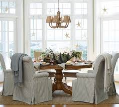 Wonderful Dining Room Chair Slipcovers Pottery Barn 39 For Your