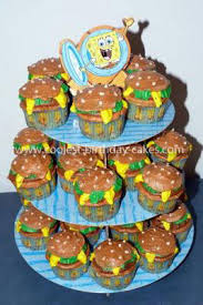 This Idea Of Krabby Patty Cupcakes Was From The Wilton Website Not That Hard To Make But It Took A Lot More Time And Frosting Than I Thought