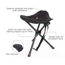100 Folding Chair With Carrying Case Camping Tripod Stool 275 LB Weight Limit 18 Inch Seat Height Perfect