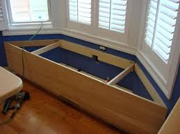 how to build a bay window storage bench wooden plans dog house