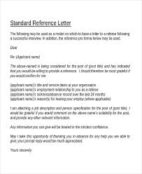 18 Reference Letter Template Free Sample Example Format