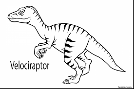 Great Velociraptor Dinosaur Coloring Pages With Page And