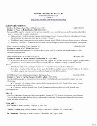 Newly Graduate Nurse Resume Sample Best Of Charge New Examples Resumes For Nurses
