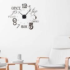 dekoration wandtattoo uhr mit uhrwerk für wohnzimmer