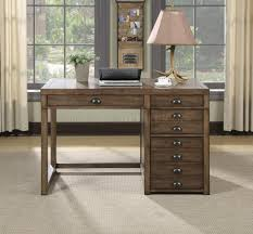 Coaster Contemporary Computer Desk by 801098 Office Desk In Weathered Taupe By Coaster W File Drawer