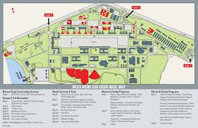 100 Truck Stop San Diego MCRD Base Map Marine Corps Community Services MCRD