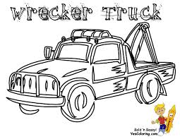 Wrecker Truck Coloring Book Page At YesColoring