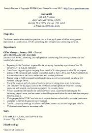 Manager Resume Template Office Example Project Sample Australia