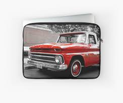 100 1960s Chevy Truck CK C10 Pickup Laptop Sleeves By HotSaus Design
