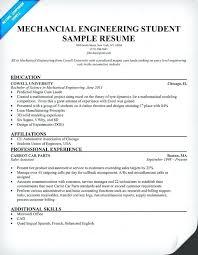 Resume Samples Mechanical Engineer Engineering Examples Sample Resumes For Experienced