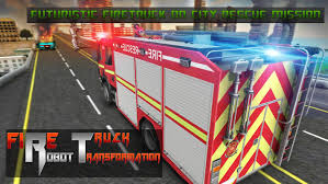 Robot Firefighter Rescue Fire Truck Simulator 2018 For Android - APK ...