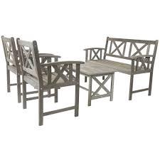 Wooden Dining Set Table And 4 Chairs Foldable Patio Outdoor Mortero Monocapa Raspado Leroy Merlin