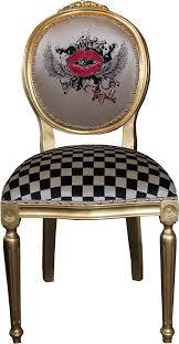 pompöös by casa padrino luxus barock esszimmer stuhl weiß karo gold pink pompööser barock stuhl designed by harald glööckler pompöös by