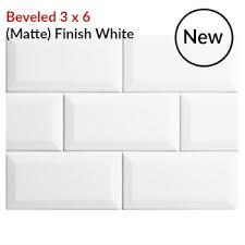 beveled subway tile 3x6 white kitchen backsplash tile discount store