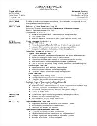 Resume Examples For Server Position