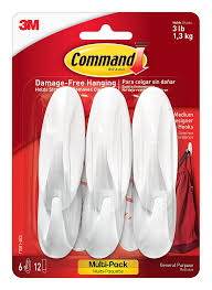 Amazon Command Designer Hooks Medium White 6 17081 6ES 3M Home Improvement