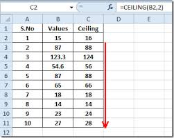 Ceiling Function Excel Example by Excel 2010 Ceiling Function
