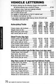100 Truck Pricing 2007 Contractors Guide For Vehicle Graphics