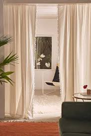 Plum And Bow Blackout Pom Pom Curtains by Window Curtains Window Panels Urban Outfitters
