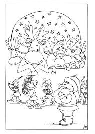 Funny Christmas Coloring Sheet Pages