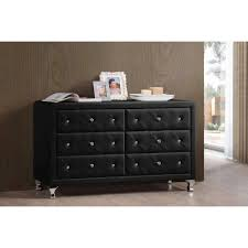 Saunders Shoal Creek Dresser by Luminescence Wood Contemporary Black Upholstered Dresser Walmart Com