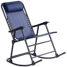 Blue Folding Zero Gravity Rocking Chair Rocker Armrest Comfortable Headrest  Glider Porch Seat Backyard Patio Lawn Deck Outdoor Garden Pool Side ... Lawn Chair Rocker Folding Alinum Rocking Chairs Check This Vintage Livingroom Eaging Charm Heavy Duty Fing Patio Armchair Camping Claytor Eucalyptus Outdoor Fniture Two Rockers And Side Table The Best Travel Leisure Padded Incredible La Z Boy Alex In 3 Redwood Wood Slates Foldable Zero Gravity Lounge Mesh Green Cinthia To Relax Storkcraft At Lowescom