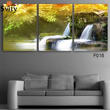 Free Shipping 3 Piece Wall Art Painting Canvas Strong Waterfall Natural Beauty Modern Picture
