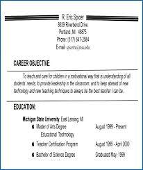 Sample Objectives For Teachers Objective A Teacher Resume Career Examples Bgjzfk New