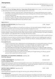 Operations Manager Resume Example Professional