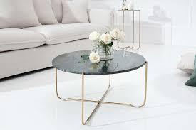 couchtisch rund grün marmor gold metall 62cm dunord design