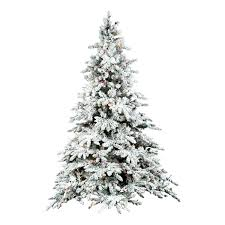 Vickerman Trees Flocked Green Fir Artificial Tree With Lit Multi Reviews Sale Christmas