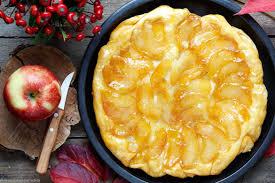 apfel tarte tatin ein kuchen dessert aus der pfanne