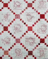 Hello Kitty Redwork