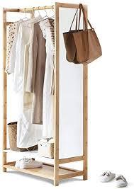 lifa living kleiderstange mit spiegel spiegelregal aus mdf