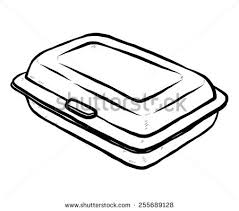 Vector Images Illustrations And Cliparts Foam Meal Box Cartoon