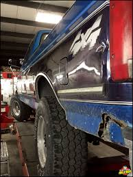 1995 Ford F-250 At Axleboy For Repair Work On The Leaf-springs, New ...