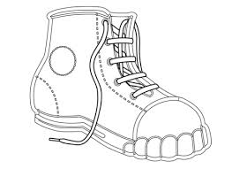 Click To See Printable Version Of Canvas Shoe Coloring Page