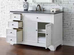 48 Inch Double Sink Vanity Canada by Abstron 48 Inch White Finish Single Cottage Bathroom Vanity