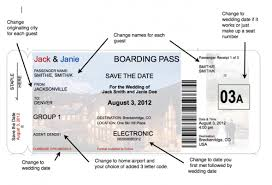 Boarding Pass Invite Templates