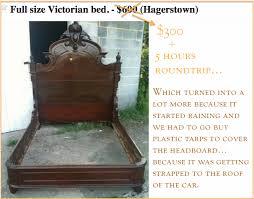 my latest craigslist treasure the fancy victorian bed saga pt 2