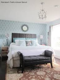 Blue Bedroom Wall by Best 25 Stenciled Accent Walls Ideas On Pinterest Accent Wall