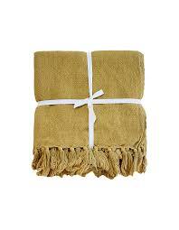100 Ochre Home Indira Linen Throw