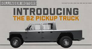 Bollinger Motors Announces New B2 Electric Pickup Truck Take A Good Look At The Wkhorse W15 Electric Pickup Truck The Drive Xl Hybrids Adds Ford F250 Hybrid To F150 Plugin Pickups Interview With Youtube Model U Tesla Unveils Pictures Specs Of Electric Work Pickup Elon Musk On How About Mini Semi Chrylser Announces Plugin Hybrid Ram 1500 Test Fleet Introduces An Electrick Rival Wired Is Not Charged Up About Building Fox Solar Trucks For Sale