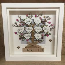 Printable Individual Scrabble Tiles by Personalised Box Frame Family Tree Scrabble Gift Mothers Day