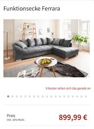 graue sofa poco 1 jahr alt alle kissen