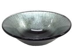 silver streams black glass vessel sink
