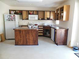 White Tile Flooring Design For Kitchen Decor Combine With Restaining Oak Cabinets Plus Paint Wall