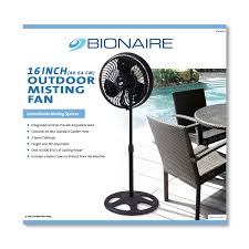 Portable Patio Misting Fans by 16 Inch Outdoor Misting Fan