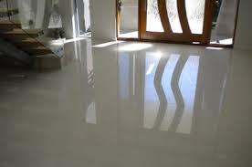 Living room entry floor white polished porcelain
